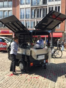 a mobile champagne bar in Aachen Germany