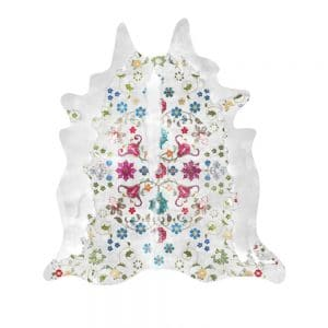 Gypsy Cowhide Rug in white colour