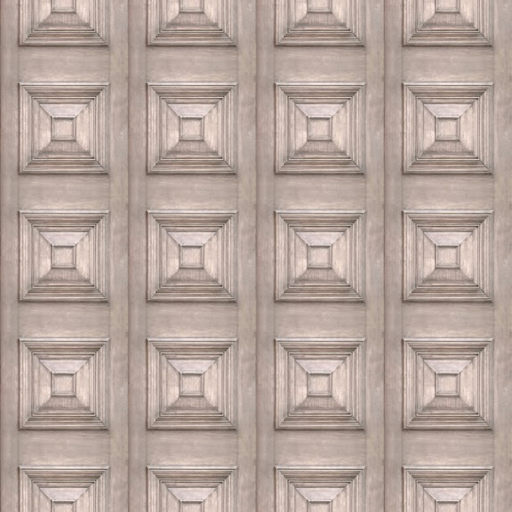 Victorian Panel Wallpaper Bleached repeat