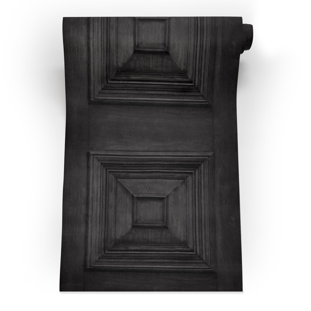 Victorian Panelling Wallpaper Charcoal roll