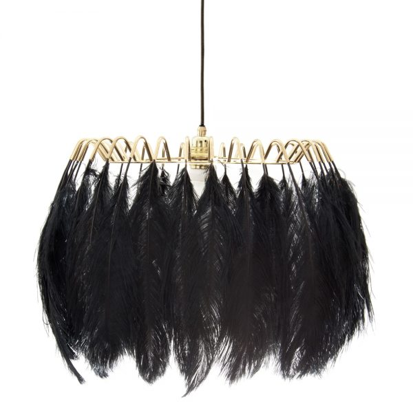 Feather Pendant Light in black colour