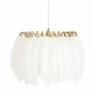 Feather Pendant Light in white colour