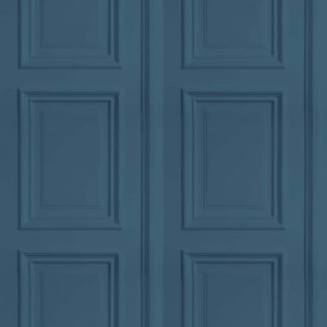 Panelling Wallpaper in petrol colour