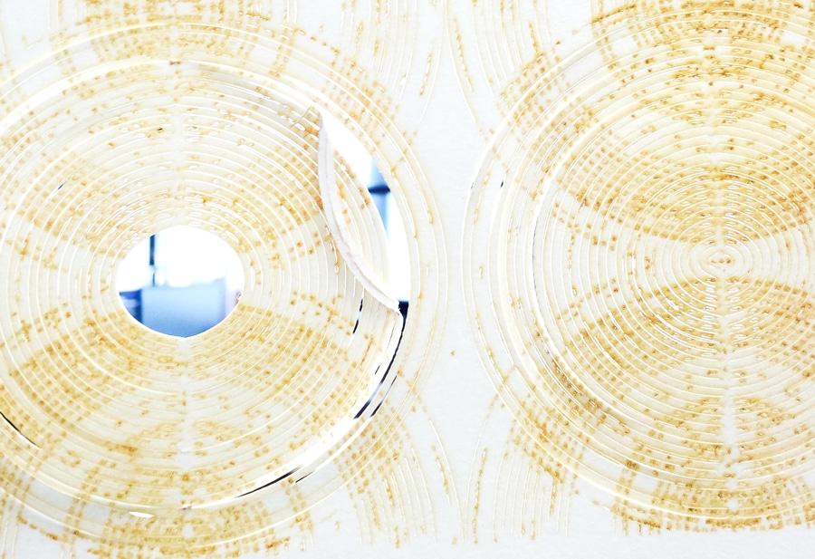 laser cut paper circles