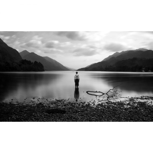 A4 Giclee reproduction print of  Alex Boyd's photographic work from the Sonnets series entitled Loch Shiel sold by Curious Egg