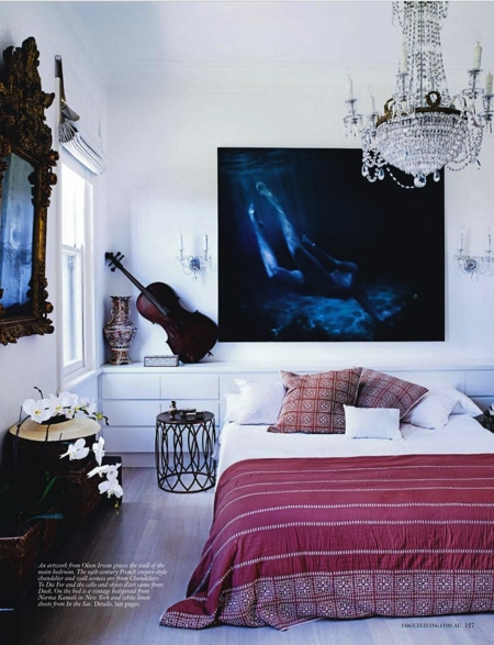 artwork as an accent wall in home decorating