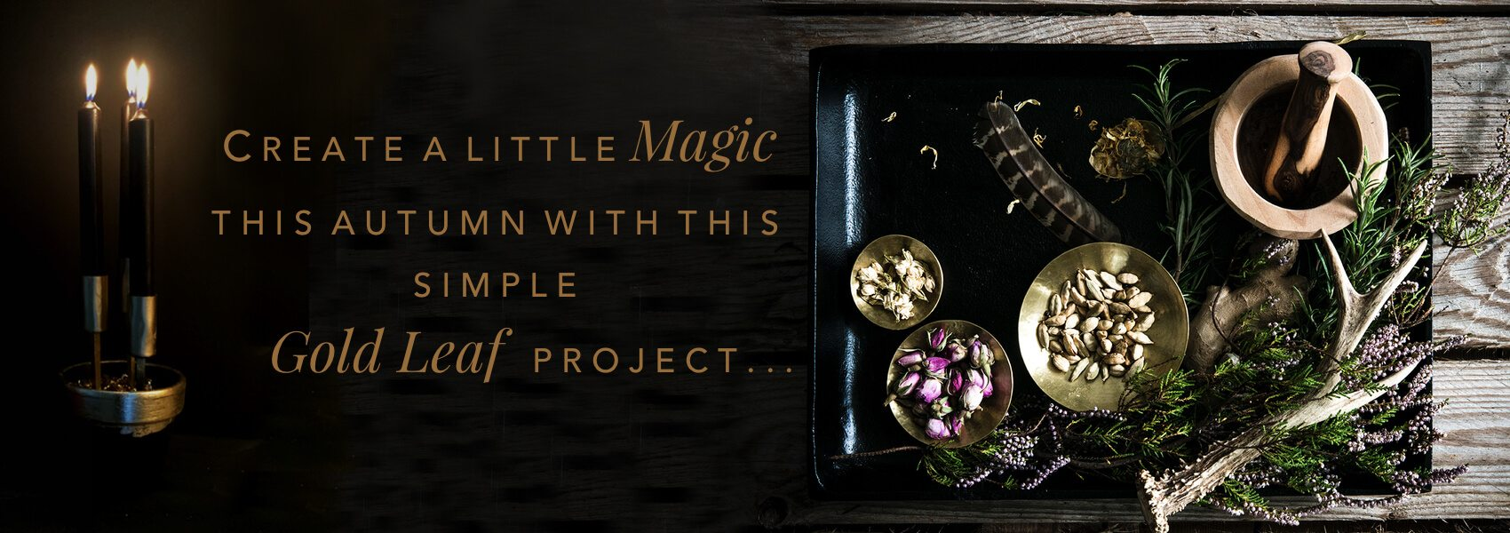Create A Little Magic the Autumn with this simple Gold Leaf project