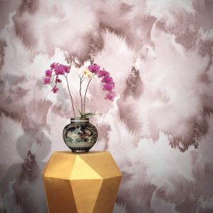 Baltic Sea Wallpaper by Feathr in Pink colour