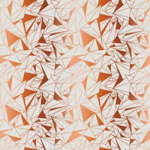 Crystallise Wallpaper by Feathr in copper colour closeup