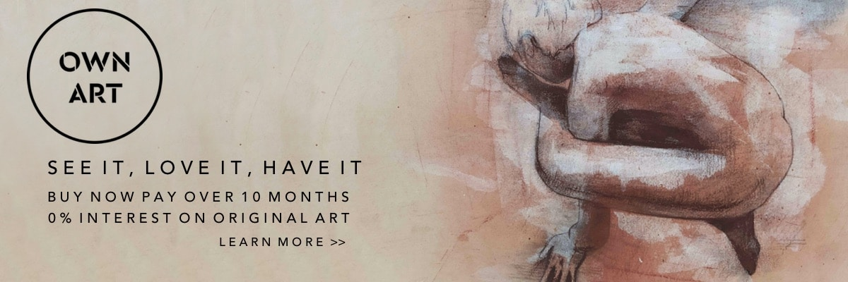 See It, Love It, Have It!  Own Art 0% Finance on Original Art at Curious Egg