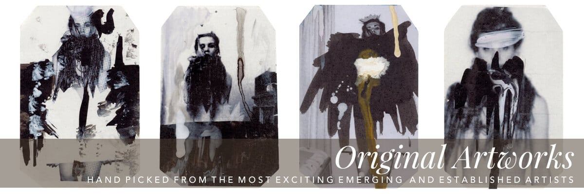 Curious Egg.  Artist Curated Interiors.  Original Artworks.  Hand picked from the most exciting emerging and established artists.  Category hero image featuring artworks from Rachel L. Lee.