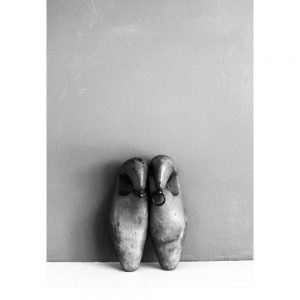 Shoe Lasts monochrome art print by We are Amused in 30 x 40 size