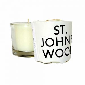 St John's wood scented candleby Tatine with glass votive