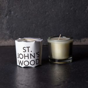 St Johns Wood scented candle by Tatine image with dark background