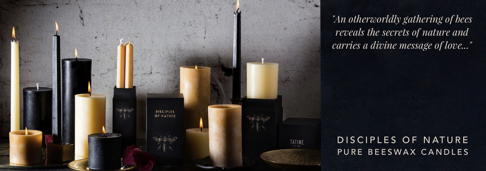 Tatine Disciples of Nature Pure Beeswax Candles