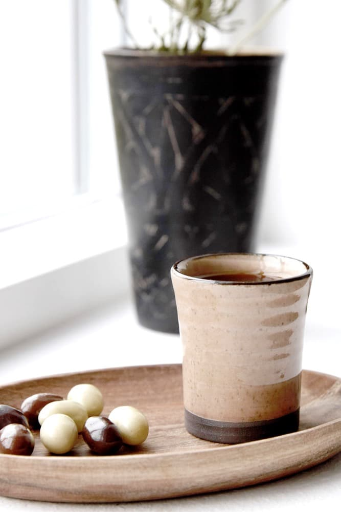 These little hand thrown ceramic espresso cups are so dinky! Perfectly sized and super chic for a quick shot of your favourite fine roasted beans. Their size and shape also allows them to be used to sip warm Sake in the evenings and again as an egg cup in the morning - how's that for the ultimate multitasker? They make a gorgeous gift paired with our mini carved bamboo spoons.