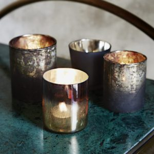 candle votives Lava lifetstyle on bar trolley