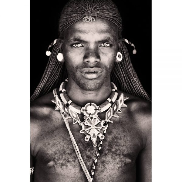 Leresh - Samburu tribe warrior.   Photo by Mario Gerth for sale at curiousegg.com