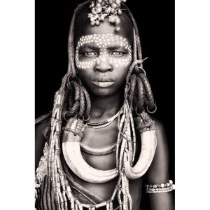 Nasatu - Ethiopian Mursi Tribe Woman. Photo by Mario Gerth for sale at curiousegg.com