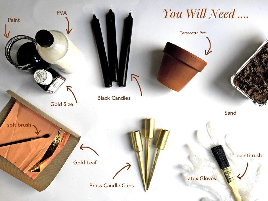 equipment list for Autumn DIY blog post