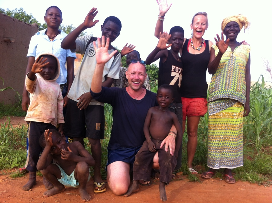 Mario Gerth and his wife with local tribe family