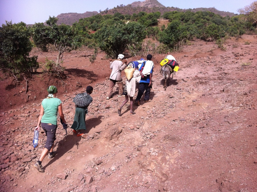 Mario Gerth and Wife trekking in Africa