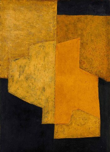 Modernist painting by Serge Poliakoff Yellow and Black