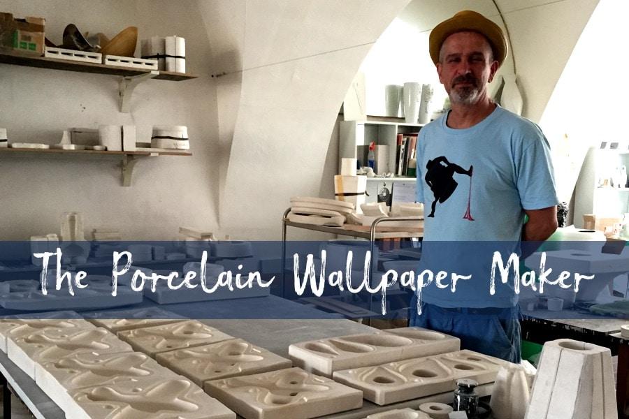 Daniel Pirsc in his porcelain worshop