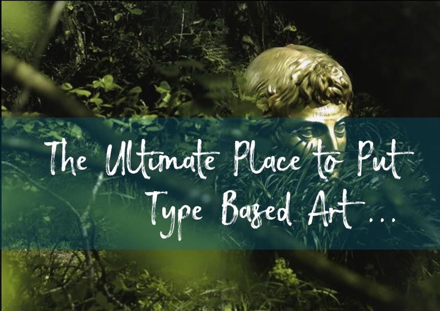Typographical garden art