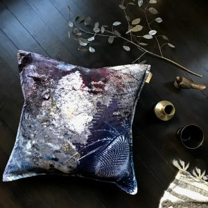 Bronze Flush Thistle velvet statement cushion by Mairi Helena