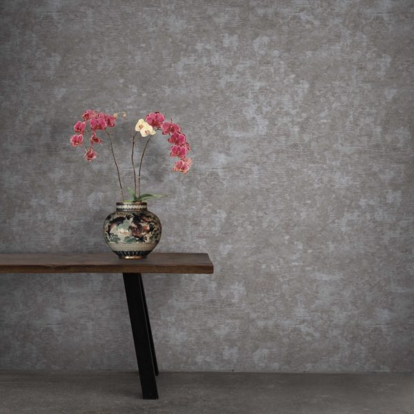 Grattage wallpaper by Feathr in concrete colour