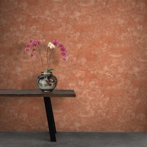 Grattage wallpaper by Feathr in terracotta colour