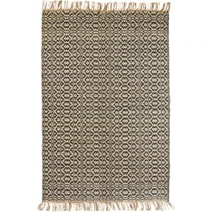 handwoven jute rug with moroccan style pattern