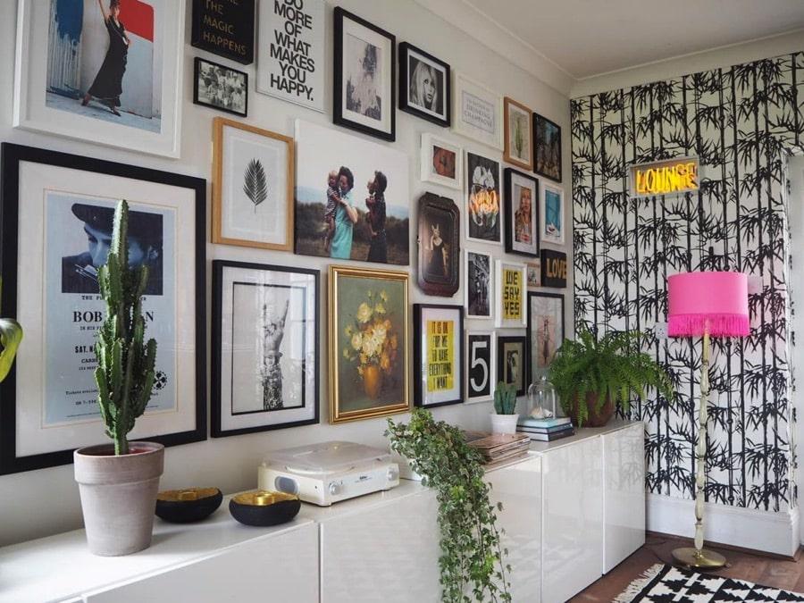 gallery wall of art prints