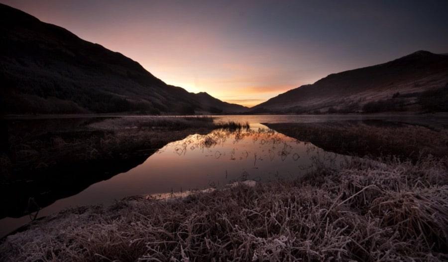 Sunset on Loch Voil at Balqhuidder Glen