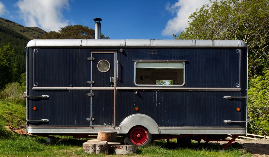 trailer accommodation at monachyle moor
