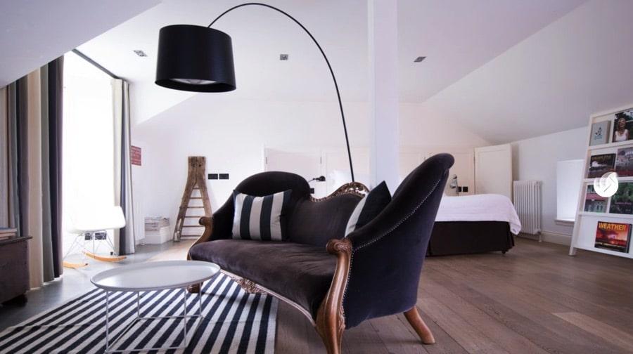 contemporary hotel room at Monachyle mhor