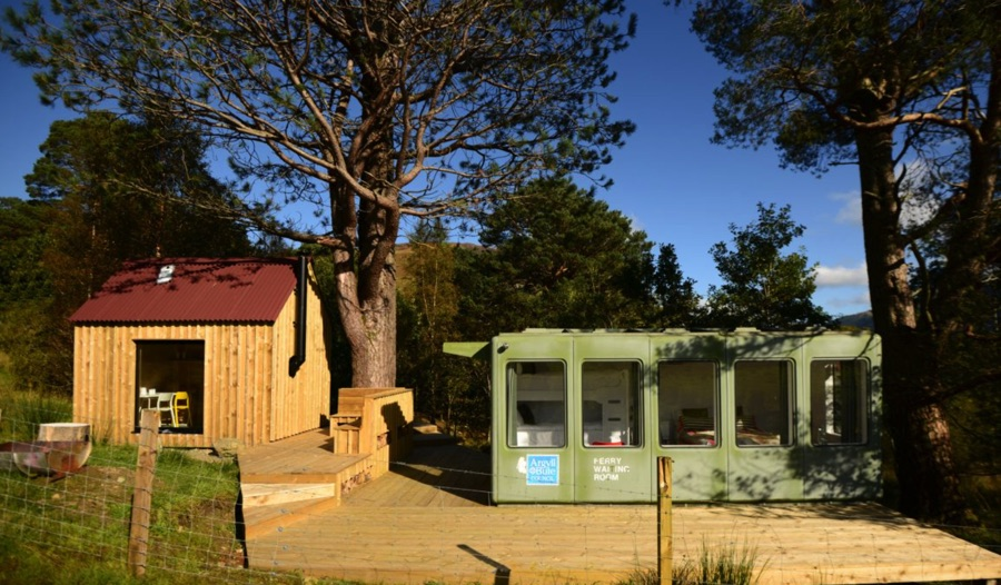monachyle mhor cool ferry cabin accommodation
