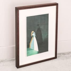 Alice Hughes - Stage for Attraction in Gold #2- Framed original screenprint - exclusively available at Curious Egg