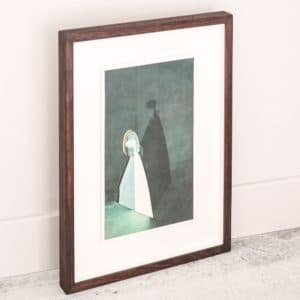 Alice Hughes - Stage for Attraction in Gold - Framed original screenprint - exclusively available at Curious Egg