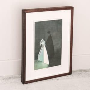 Alice Hughes - Stage for Attraction in White - Framed original screenprint - exclusively available at Curious Egg