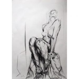 Original Artwork by Kane McLay - Seated Fugure - exclusively available at Curious Egg