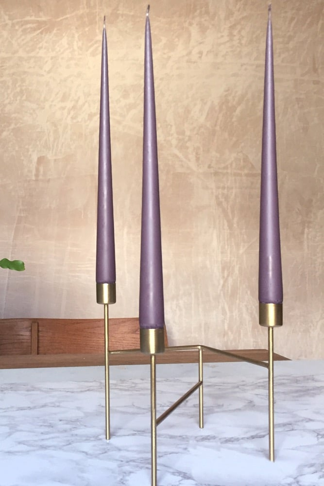 Hand Dipped Taper candles - French Lavender (6 pack)
