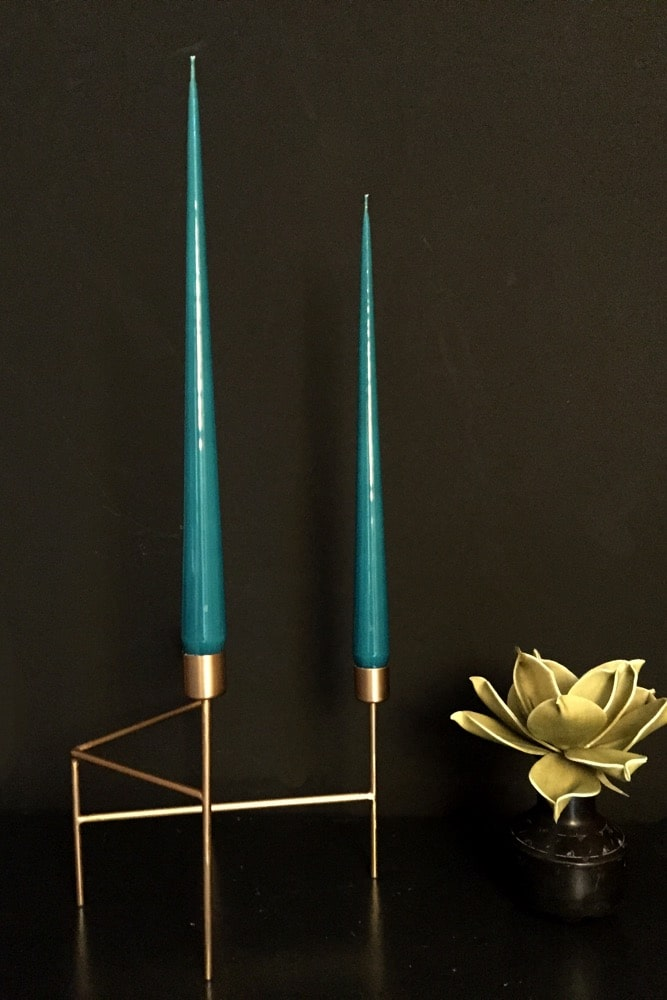 Hand Dipped Taper candles - Teal (6 pack)
