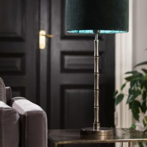 Curious Egg Bamboo Rush Table Lamp - Large - Lifestyle Image