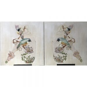 Karenina Fabrizzi - Original Artwork - Billie Rae with Ballerina Shoes (Diptych) - Exclusively available at Curious Egg