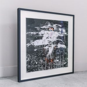 Rachel Lee - Framed Original Artwork - Landscape #1 - exclusively available at Curious Egg. Lifestyle image of framed artwork against a wall.