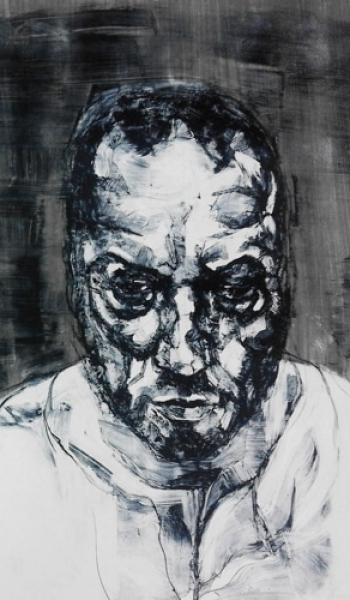 Head 1 by Kane McLay mixed media Lithograph