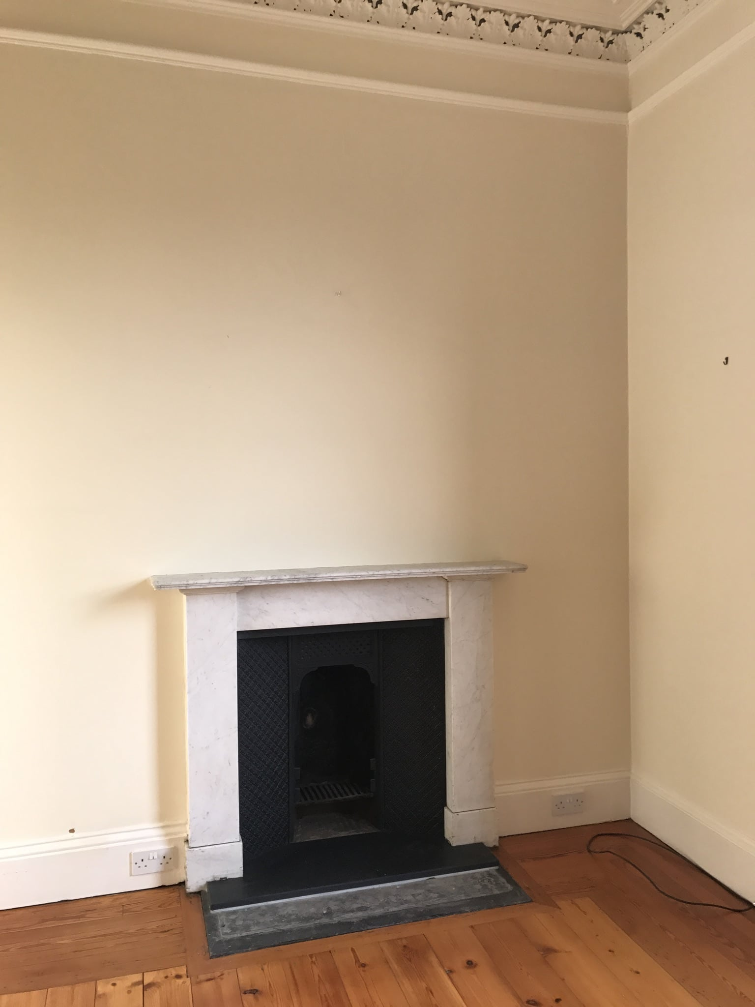 marble fireplace in Edinburgh property
