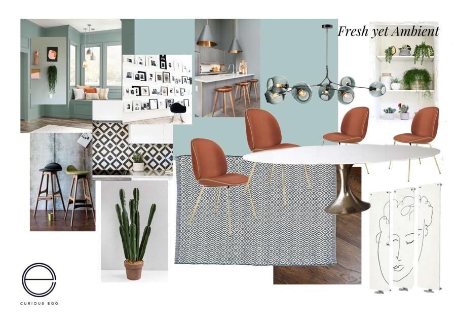 Interior decor moodboard for Edinburgh Kitchen scheme